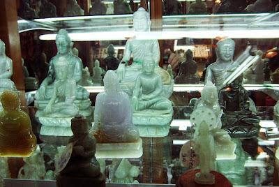 jadeite Buddha shop at Yangon Bogyoke Market
