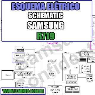 Esquema Elétrico Notebook Samsung R719 Laptop Manual de Serviço  Service Manual schematic Diagram Notebook Samsung R719 Laptop   Esquematico Notebook Placa Mãe Samsung R719 Laptop