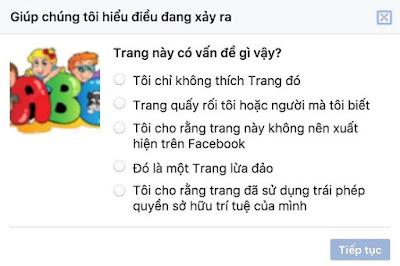 canh bao FB