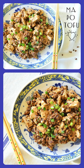 Ma Po Tofu is pure Chinese comfort food. Flavored with a bit of ground pork and garlic, and a bit of Szechuan peppercorns, the soft tofu contrasts well with the heat. I love it when it is made right! #tofu #Chinesefood #Szechuan www.thisishowicook.com