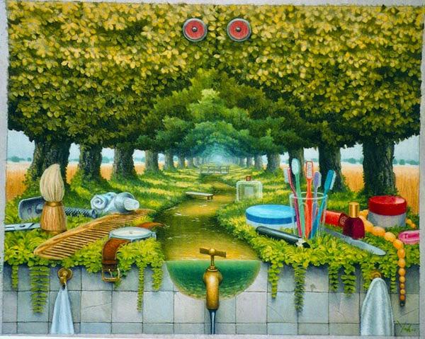 A Pequena Prateleira - Jacek Yerka e seu surrealismo fantástico ~ Polonês