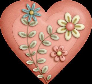 Clipart de Corazones con Flores.