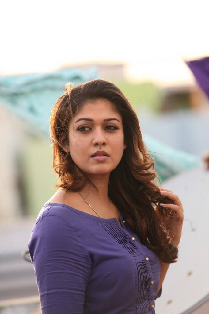 Nayanthara Photos In Blue Dress