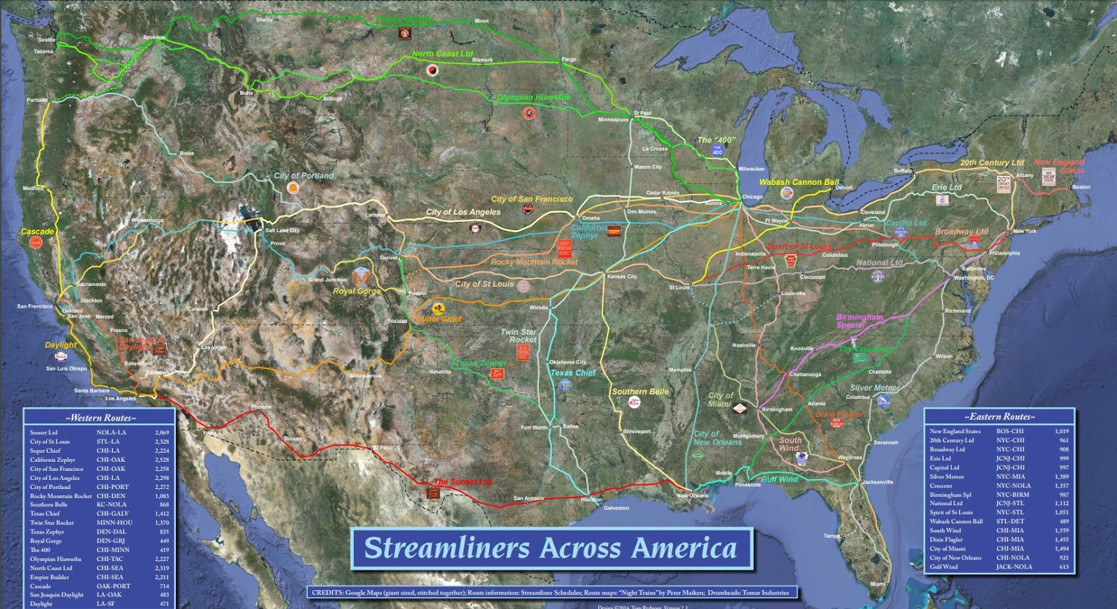 thomas did an amazing map of the 1940s and 50s streamliner trains