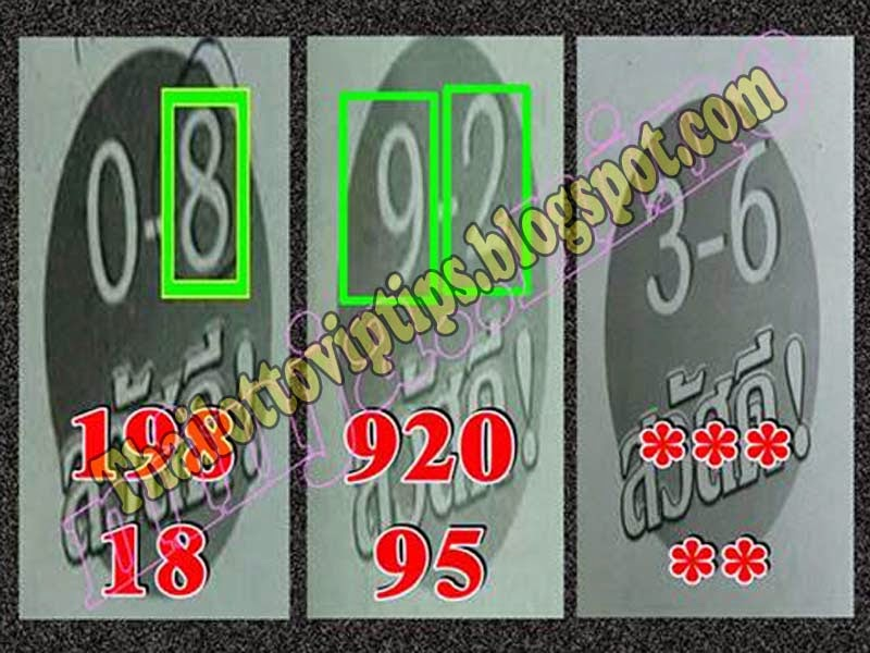 Thai Lotto Hot Touch 01-07-2014