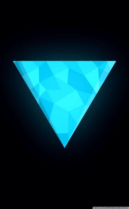Blue Triangles Flat Iphone 5 Wallpaper Styles Wallpapers