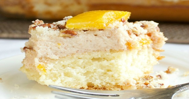 Peaches & Cream Coffee Cake Recipe