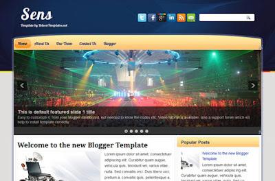sens blogger template