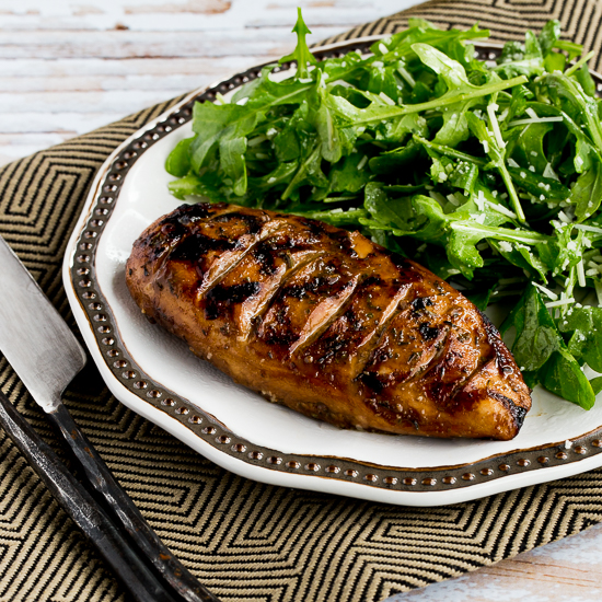 Mustard, Lemon, And Coriander Grilled Chicken Breasts With Lemon-Basil ...