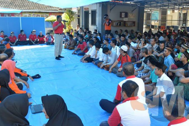 Petugas dan Warga Binaan Rutan Kebumen Ikuti Sosialisasi Penanganan Bencana
