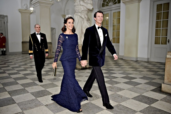 Queen Margrethe of Denmark hosted a gala dinner for the Danish art and culture at the Christiansborg Palace in Copenhagen