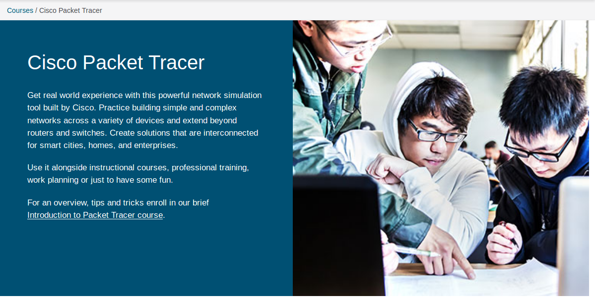 Halaman Courses Packet Tracer