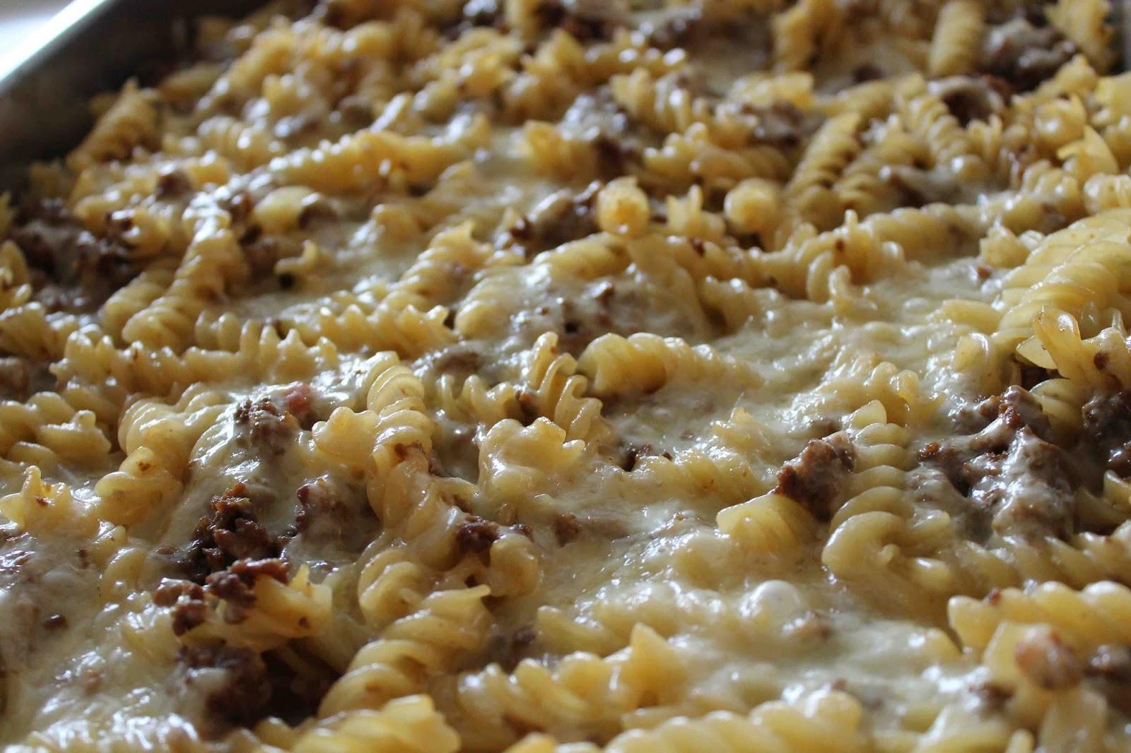pasta med köttfärs recept