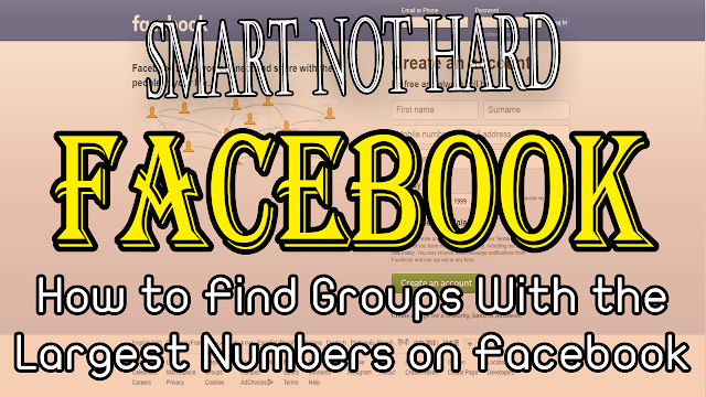 How to Find Groups With the Largest Numbers on Facebook