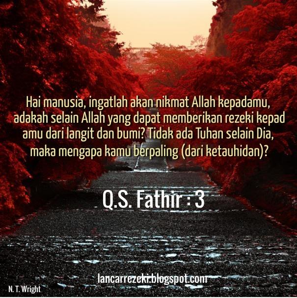 Ayat Ayat Rezeki Dalam Al Quran