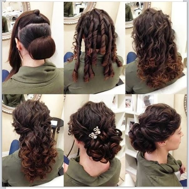 elegant updo hairstyle in