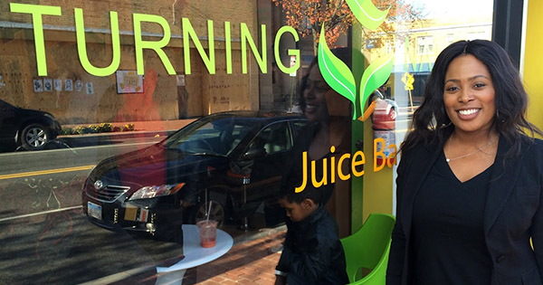 Jerri Evans, owner of Turning Natural Juice Bar and Cafe