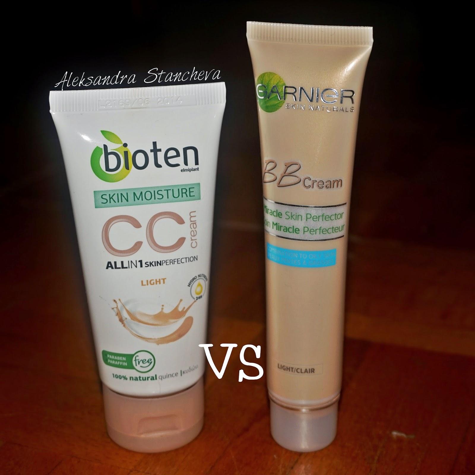 garnier bb cream vs bioten cc cream. Black Bedroom Furniture Sets. Home Design Ideas