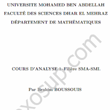 cours danalyse 1 smia s1 fsdm 201415 - Resume Cours Science Bac Tunisie