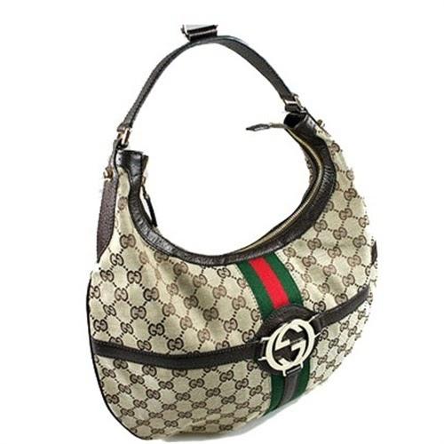 24eda2ec0ed bellaladystore  Gucci 114871 Classic Brown Medium HOBO bag Handbag