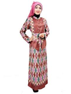 Kreasi baju batik muslim modern