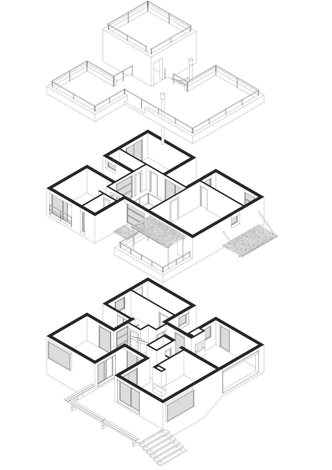 Axonometria Casa Marina