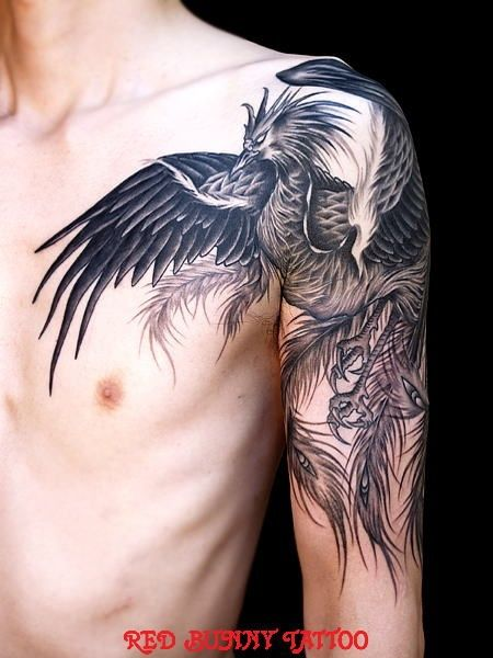 Sleeve Phoenix Tattoo For Men