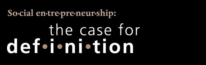Social Entrepreneurship definition