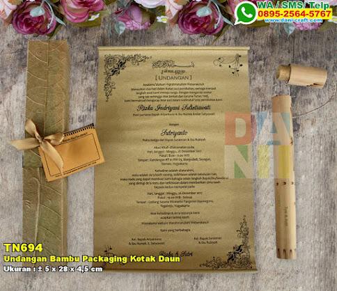 Undangan Bambu Packaging Kotak Daun
