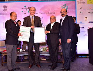 LANXESS India wins ICC award for Responsible Care and Efficient Waste Management for the year 2015