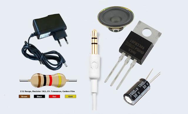 criaremos facilmente um amplificador de áudio com um transistor PNP