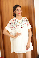 Lavanya Tripathi in Summer Style Spicy Short White Dress at her Interview  Exclusive 207.JPG