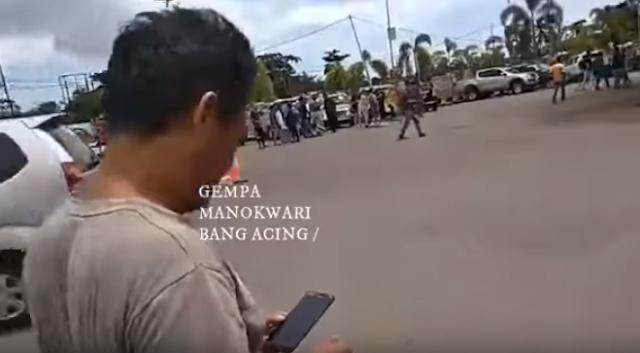 Update Kondisi Gempa M 6,1 Manokwari, Warga Panik Berhamburan Mencari Keselamatan