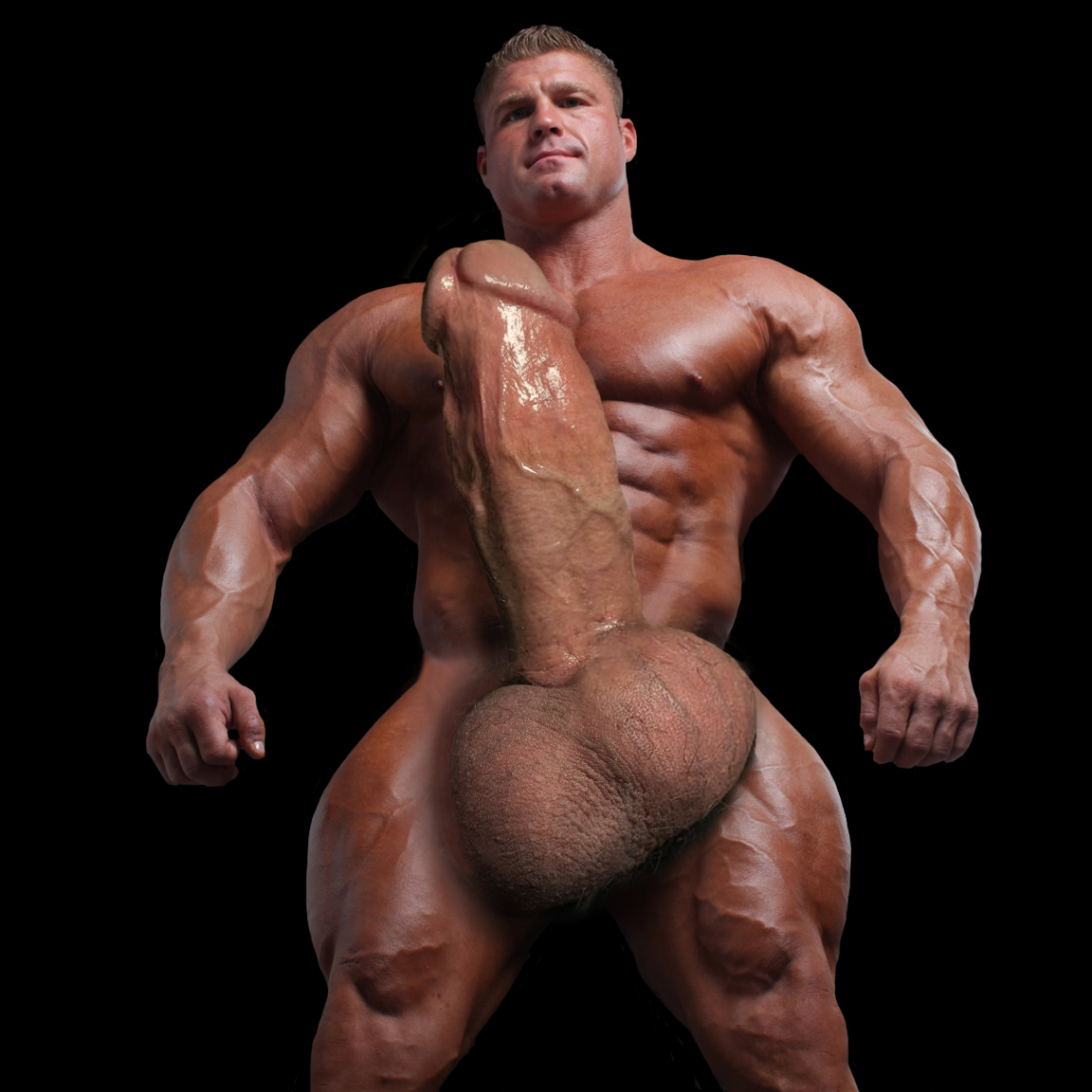 Naked bodybuilders with huge meat, naked swetty women