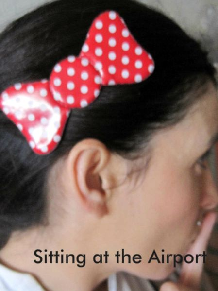 Statics Bangs Hair Pad Bow Velcro