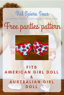 Free panties pattern for American Girl Doll