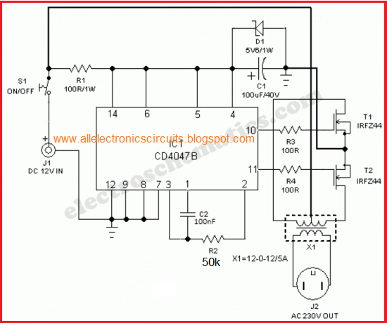 Make The Easiest And Simplest Inverter Easy Electronics