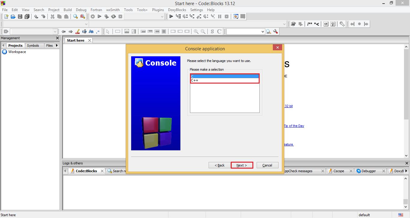 How to create new C/C++ project in CodeBlocks - Codeforwin
