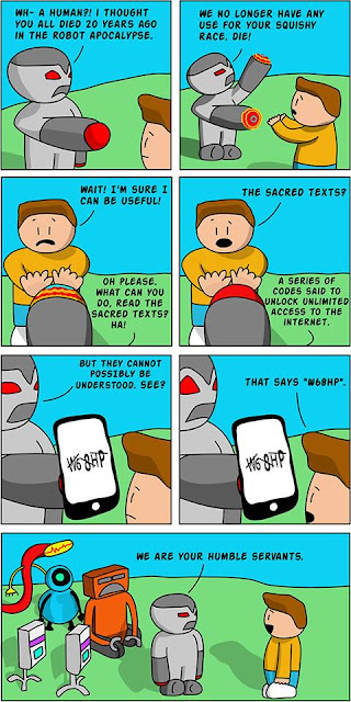 web comic about robots and captcha from Facebook