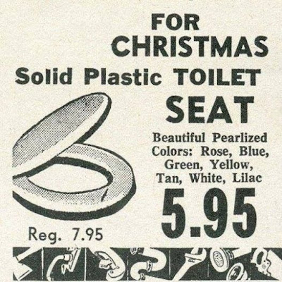 For Christmas -- Solid Plastic Toilet Seat