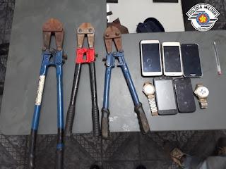 Polícia Militar prende cinco homens em flagrante furtando fios de energia pública em Ilha Comprida