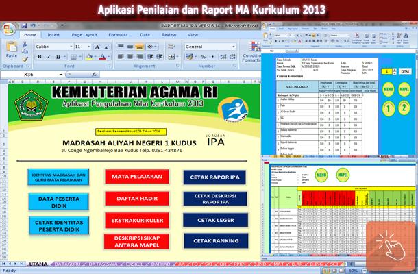 Aplikasi Penilaian dan Raport MA Kurikulum 2013