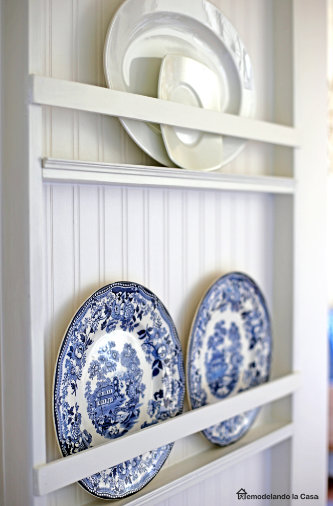 how to build a plate rack.