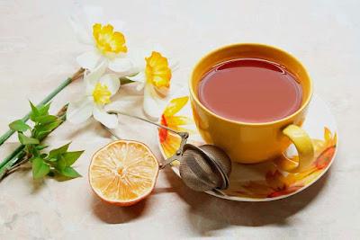 beverage-orange-flowers