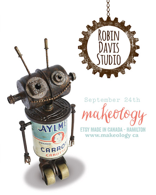 Robots by Robin Davis Studio - Makeology Etsy made in Canada Show Sept 24th