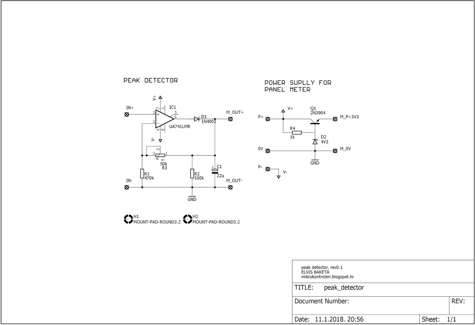 Elvis Diy Electronics Projects Peak Voltage Detector For A Sine Simple Wave Oscillator Circuit And 36v Regulator