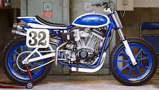 blue sportster flat tracker my 2003 with 1200 engine