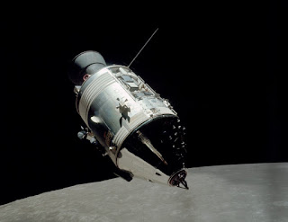 Apollo 17 Command Module as it orbited the moon.