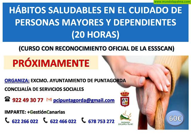 Curso de Hábitos saludables en el cuidado de personas mayores y dependientes en Puntagorda
