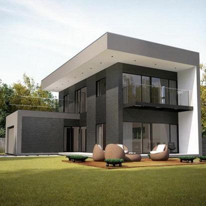 rumah minimalis 2 lantai dinding kaca